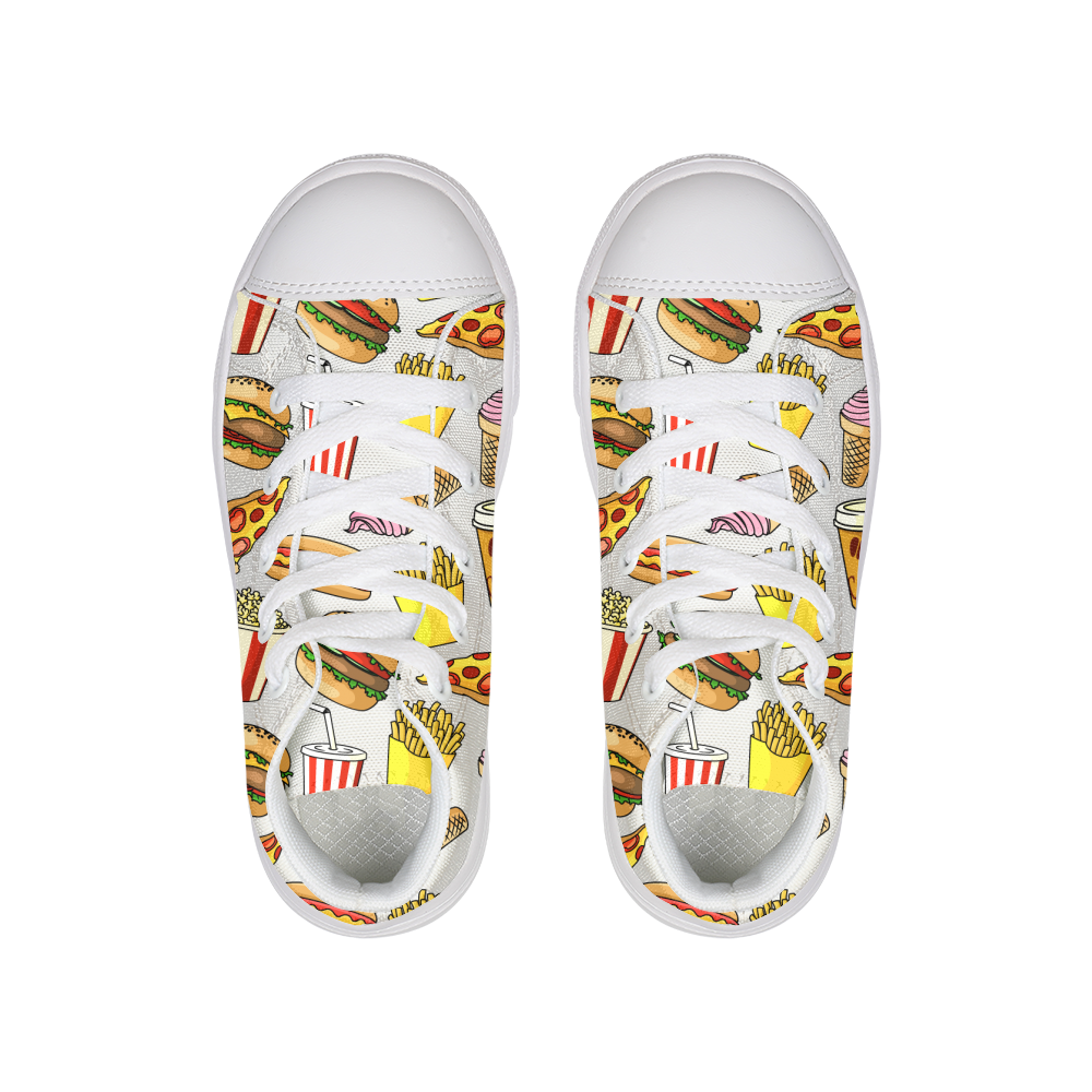 Fast Food Kids Hightop Canvas Shoe