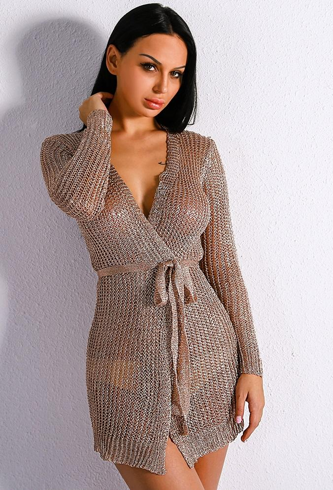 Rose Gold Sweater Dress